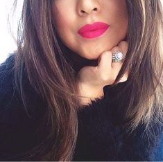 Mac lipstick: All Fired Up • Love this color with black