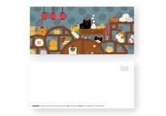 「我的貓」插畫寫真集  貓台式午茶  9.7 x 21.7 cm  paper  一系列可愛貓群享受節慶、擬人的日常生活或角色扮演的插畫寫真。  產地/製造方式 台灣