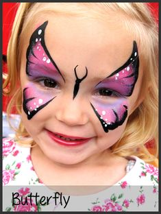Butterfly Face Makeup Easy Butterfly face painting by
