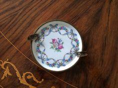 Posacenere Limoges France / Portacenere porcellana / Portacenere con fiori /Vintage posacenere di VintaFai su Etsy