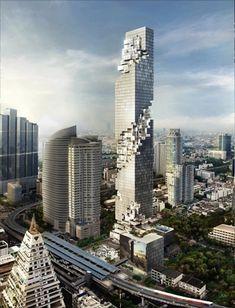 Bangkok building looks flaky, but really isn't