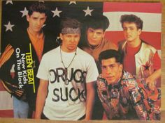 New Kids on the Block, NKOTB, Christian Slater, Full Page Vintage Pinup