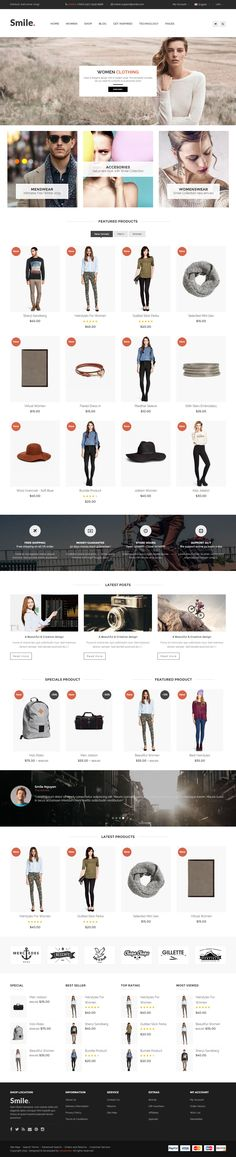 Smile is Premium full Responsive #OpenCart eCommerce Theme. Bootstrap 3 Framework. #ParallaxScrolling. Cloud Zoom. #Ajax Cart. Test free demo at: http://www.responsivemiracle.com/cms/smile-premium-responsive-opencart-theme/