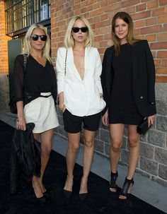 Black and white sexy yet professional outfits. Simple and perfect for a night out!