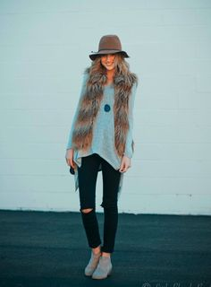 faux fur + booties.