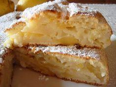 Torta di ricotta al limone e mele (senza uova e grassi aggiunti!)