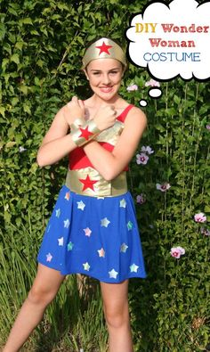 NO-Sew Wonder Woman Costume {DIY}