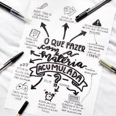 Hahaha já tô vendo os elogios !! Ohh !!! Que caderno bonito 😆 Bullet Journal Planner, Bullet Journal School, Mental Map, Study Organization, Study Planner, Lettering Tutorial, School Notes, Study Hard, Study Inspiration