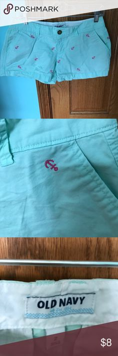 Old Navy Mint and Pink Anchor Shorts Lightly worn Old Navy Anchor shorts. In great condition Old Navy Shorts