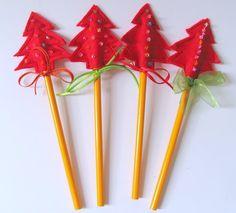 Tutorial: Christmas Pencil Toppers - Add Jingle Bells & use Christmas Pencils