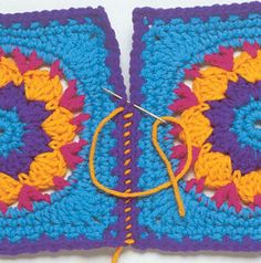 Learn how to join crocheted blocks in a variety of ways. Photos included!