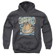 GARFIELD/RAD GARFIELD-YOUTH PULL-OVER HOODIE - CHARCOAL -