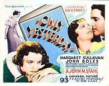 Only Yesterday (1933 lobby card)