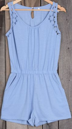 Be prepared for jaws to drop and heads to turn when you wear this romper. Lace splicing is flattering, while pockets and elastic at waist make it lovely. The Summer Nights Lace Hem Romper is a perfect outfit all on its own!