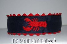Embroidered Lobster Headband Custom Boutique by thesouthernbaby, $10.99