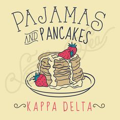Pajamas and Pancakes | Kappa Delta | KD | South by Sea | Greek Tee Shirts | Greek Tank Tops | Custom Apparel Design | Custom Greek Apparel | Sorority Tee Shirts | Sorority Tanks | Sorority Shirt Designs