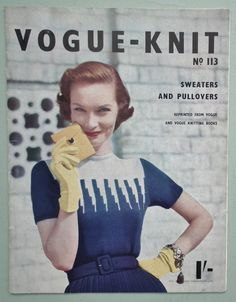 Vogue-Knit No. 113 Sweaters and Pullovers / early '50s