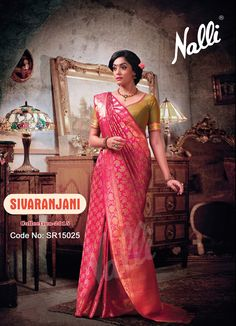 Code: SR15025 - Kanchipuram Silk Saree To know more about this product contact our eshop team at eshop@nalli.com.