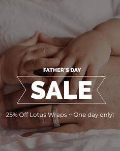 FATHER'S! SAVE 25% TODAY ONLY  It's your day! When else can you guiltlessly splurge on yourself? Use code ITSMYDAY at checkout and receive 25% off your Lotus Wrap purchases. Fathers Day Sale, One Day Only, Lotus, Coding, Lotus Flower, Lily, Programming