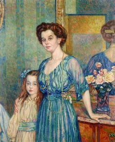 Madame Von Bodenhausen with her daughter Luli, 1910  Theo van Rysselberghe