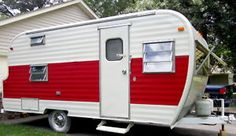 I think is is kinda like how I want to paint mine - 1967 Vintage Fan Travel Trailer Restored Camper 19 Feet.  ebay sold for 1875.00.