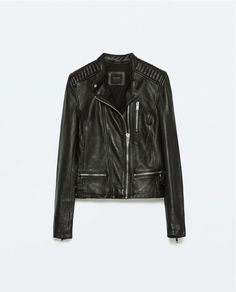 Image 8 of LEATHER JACKET WITH ZIPS from Zara