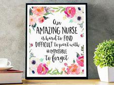 Nurse Gift An amazing nurse is hard to find Office Decor