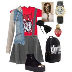 Panic at the disco punk/school outfit