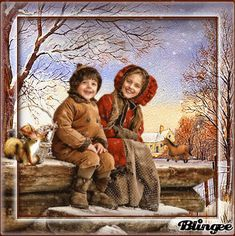 Winter vintage - Vintage d'hiver Vintage Winter, Vintage Christmas, Christmas Stuff, Winter Christmas, Winter Time, Fall Winter, Animation, Gifs, Creations