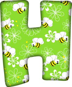 Hand Lettering Alphabet, Alphabet Art, Alphabet And Numbers, Birthday Charts, Alphabet Templates, Cute Bee, Kids Zone, Kids Learning Activities, Bee Theme