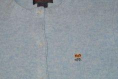 Ralph Lauren Sweater Wool Cardigan Crown Crest Embroidered Size M Ladies Womens