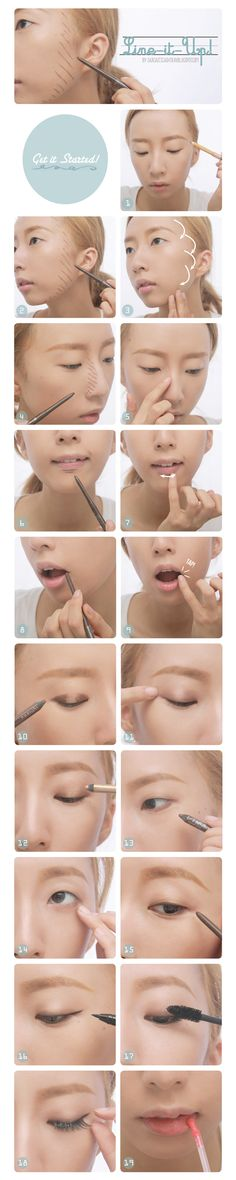 COMPACT, CONTOUR, CONTOURING, COSMETIC, EASY, EYELINER, HOW TO, JAPANESE, LINE, MAKE UP, ONEE, SEXY, SHADING, SIMPLE, TRAVEL, TRAVELLING, TUTORIAL