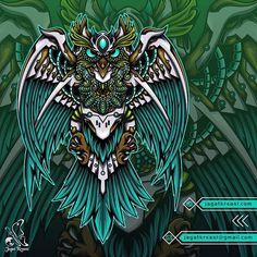 "Kank Wage on Instagram: ""Mechandala Owl Artwork for sale Available for commission work jagatkreasi@gmail.com www.jagatkreasi.com Link in bio #jagatkreasi…"" Owl Artwork, Owl Illustration, Predator, Lion Sculpture, Wildlife, Doodles, Symbols, Concept, Statue"