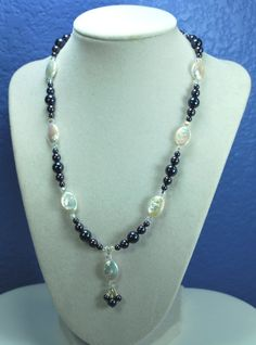 Sterling Silver Moonlight Pearl necklace by beadingshop on Etsy, $55.00