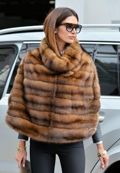 sable furs - exclusive sable fur coat - fantastic poncho