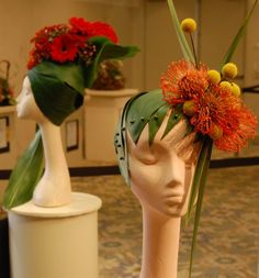 oan Schofield of the Holliston Garden Club fashioned this hat out of flowers and palm leaves