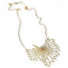"""Radiolaria Pendant Gold-Plated"" by Nervous System via Fab.com"