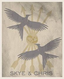 Hunger Games Wedding Poster perfect for a geek wedding!