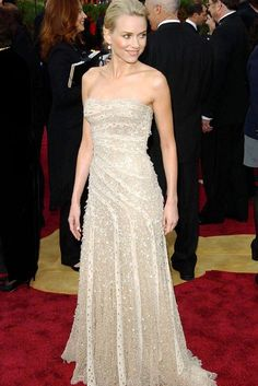 Best #Oscar Dresses of All Time, via #MarieClaireUK.   Seen here: Naomi Watts