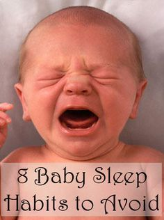 Eight common practices that cause problems sleeping through the night, and how to avoid them. hey New mommies out there PIN THIS!!
