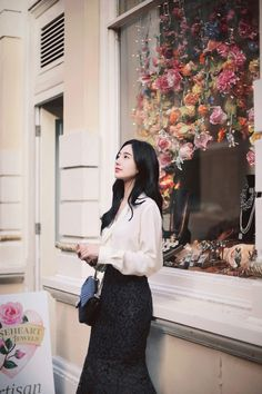 Office Dresses, Formal Wear, Ulzzang, Winter Ootd, Feminine, Floral, Skirts, Outfits, Clothes