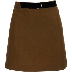 MARNI Taupe Mini-skirt ($210) found on Polyvore