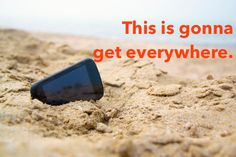 Use a cuticle pusher to scoop out any sand. | 19 Smart Tips To Protect Your Phone All Summer Long