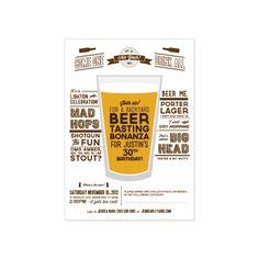 PRINTABLE Beer Tasting Party invitation. $15.20, via Etsy.