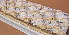 Régi idők süteménye dióval és házilag készült sárgabaracklekvárral. Hozzávalók 24x36 cm-es tepsihez A tésztához 50 dkg liszt 1 c...
