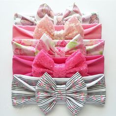 Handfuls of solid and pattern bow wraps available at sassybowco.com