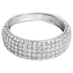 Beautiful Pave Diamond Gold Band Ring