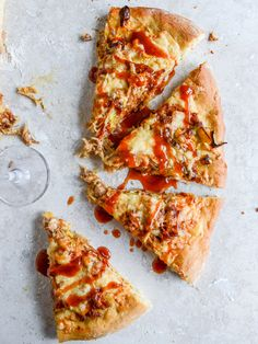 Pulled Pork Pizza with Maple Leeks, Roasted Garlic and Aged Cheddar from @how sweet eats