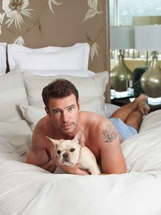 Scott Foley Shirtless And Holding Puppies   Scott Foley Shirtless And Holding Puppies