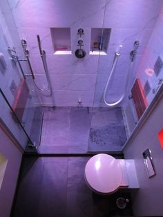 steam shower tip: Plan the layout your benches so that you won't sit right beside the steam head in your shower.